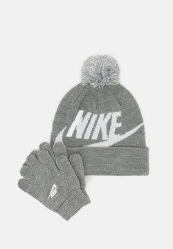 Nike Sportswear - POM BEANIE GLOVE SET - Fingerhandschuh - grey heather