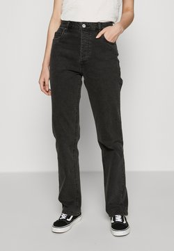 Cotton On - HIGH STRETCH - Straight leg -farkut - stonewash black