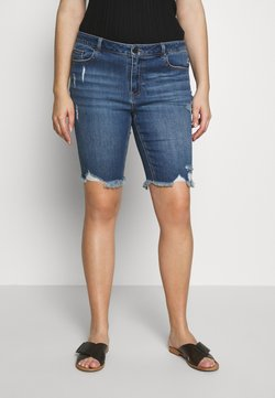 Simply Be - FERN KNEE LENGTH  - Jeansshort - stonewash