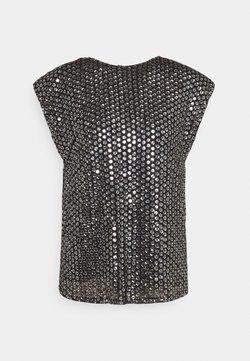 MANÉ - LEXI TOP - Blusa - black/silver