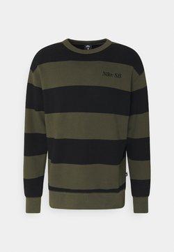 Nike SB - NOVELTY CREW UNISEX - Sweatshirt - khaki/black
