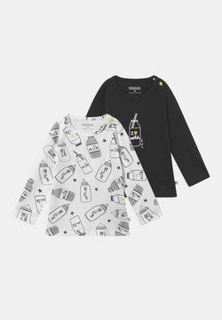 Staccato - 2 PACK UNISEX - Maglietta a manica lunga - black/off-white
