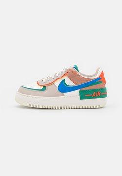 Nike Sportswear - AIR FORCE 1 SHADOW - Sneaker low - sail/signal blue/green noise/cream/orange/med brown