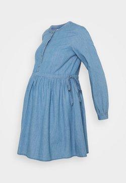 MAMALICIOUS - MLSTINA  WOVEN TUNIC - Camicetta - light blue/chambray
