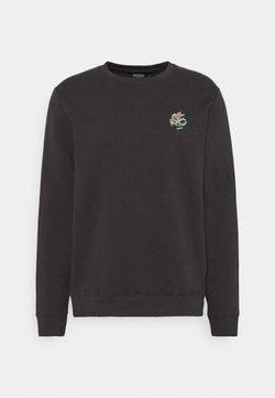 Burton Menswear London - SNAKE AND ROSE EMBROIDERED - Sweatshirt - stone