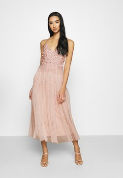 Lace & Beads - RIRI MIDI - Occasion wear - nude