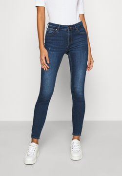 ONLY - ONLKENDELL LIFE ANKLE - Jeans Skinny Fit - dark blue denim