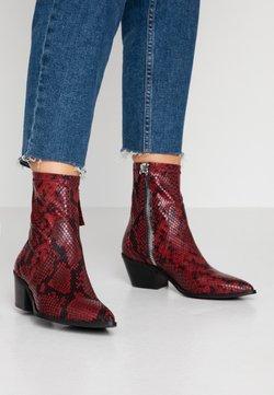 ALDO - BATIS - Cowboy/biker ankle boot - red