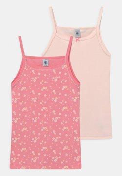 Petit Bateau - FLORAL PLAIN CHEMISES 2 PACK  - Unterhemd/-shirt - light pink/pink