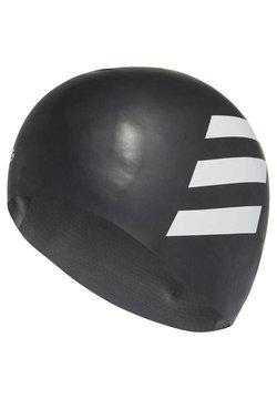 adidas Performance - SILICON 3 STRIPES HEADWEAR SWIM CAP - Swimming accessory - black
