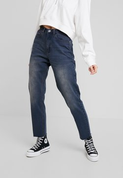 Missguided - RIOT HIGHRISE CUT HEM MOM - Relaxed fit jeans - authentic blue