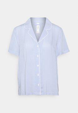 Lindex - NIGHT SHIRT FIA WOVEN - Nachtwäsche Shirt - blue