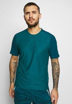 Nike Performance - HYBRID - T-Shirt print - midnight turq/bright spruce/reflect black