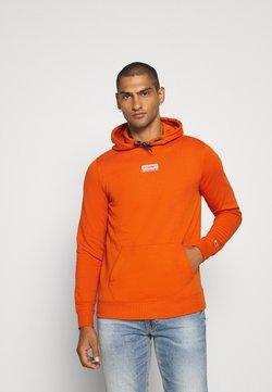 Tommy Jeans - ESSENTIAL GRAPHIC HOODIE - Hoodie - bonfire orange