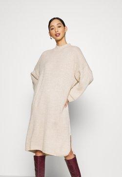 Monki - MALOU DRESS - Sukienka dzianinowa - beige light