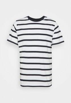 NN07 - ASPEN STRIPED TEE - T-Shirt print - blue