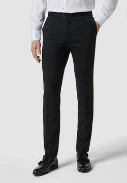HUGO - SMOKING MIT MODELL 'HETON' - Pantaloni eleganti - schwarz