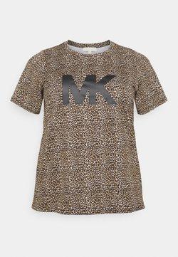 MICHAEL Michael Kors - LEOPARD LOGO TEE - T-Shirt print - dark camel