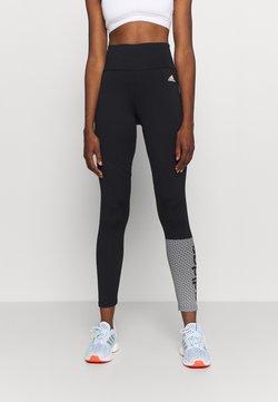 adidas Performance - Collants - black/white