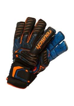 Reusch - ATTRAKT G3 FUSION ORTHO-TEC GOALIATOR - Torwarthandschuh - black / shocking orange / deep blue