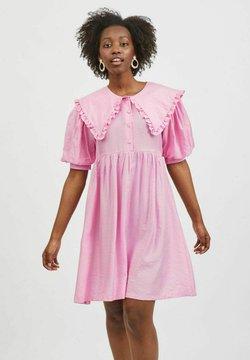 Vila - Sukienka koszulowa - begonia pink