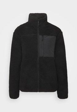 Cotton On - UNISEX POCKET TEDDY ZIP THROUGH - Winterjacke - black