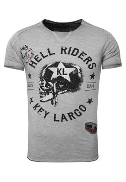 Key Largo - HELL RIDERS - T-shirt print - silver