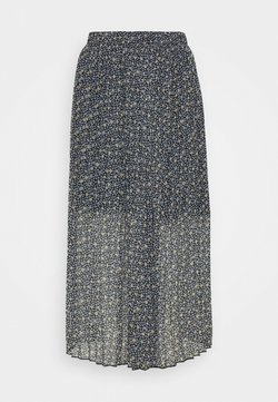 Abercrombie & Fitch - PLEATED MIDI SKIRT - A-Linien-Rock - blue