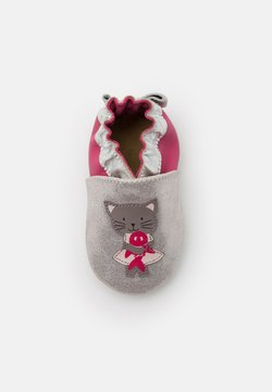 Robeez - CAT IN LOVE - Krabbelschuh - argent/fuchsia