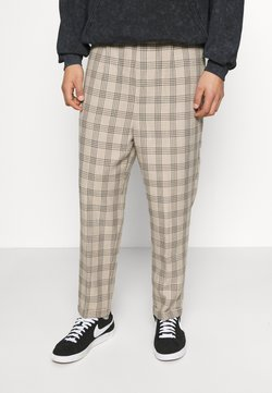 Vintage Supply - CASUAL CHECK TROUSER - Stoffhose - beige