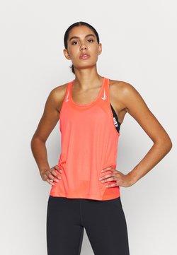Nike Performance - MILER TANK RACER - Camiseta de deporte - bright crimson/reflective silver