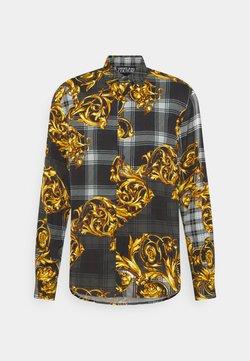 Versace Jeans Couture - PRINT TARTAN BAROQUE - Koszula - grigio/oro
