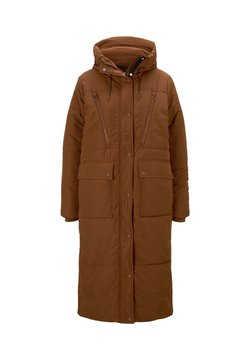 TOM TAILOR DENIM - PADDED LONG COAT - Wintermantel - burnt hazelnut brown
