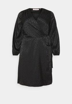 ONLY Carmakoma - CARDAMINA WRAP KNEE DRESS - Vestido informal - black