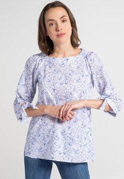 Eterna - Bluse - blue/white