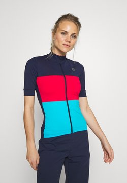 Triple2 - VELOZIP OCEAN WASTE ECONYL WOMEN - T-Shirt print - peacoat