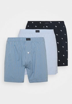 Abercrombie & Fitch - 3 PACK  - Boxershorts - blue/blue/navy