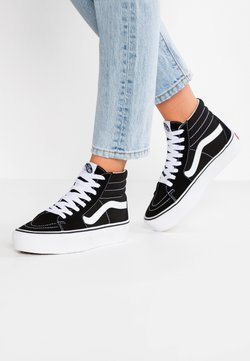Vans - SK8 PLATFORM 2.0 - Korkeavartiset tennarit - black/true white