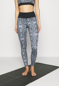 Wolf & Whistle - ABSTRACT PRINT LEGGINGS CORE - Medias - blue