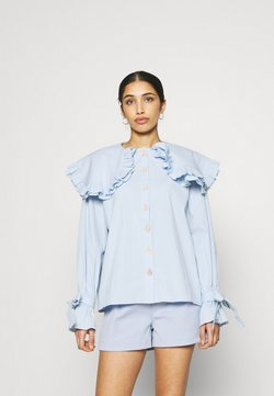 Sister Jane - NOTES OVERSIZED COLLAR BLOUSE - Camicia - blue