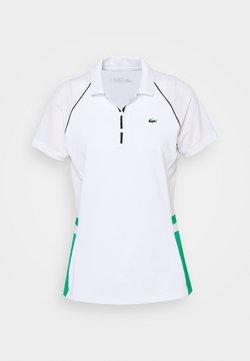 Lacoste Sport - TENNIS  - Poloshirt - white/palm green/navy blue