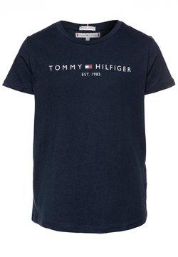 Tommy Hilfiger - ESSENTIAL TEE  - T-shirt z nadrukiem - blue