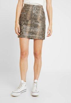 Object Tall - OBJTYRRELL SHORT SKIRT - Mini skirt - humus