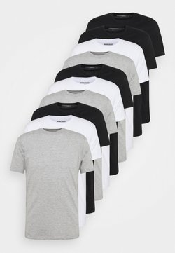 Denim Project - 10 PACK  - Basic T-shirt - black/white/light grey melange