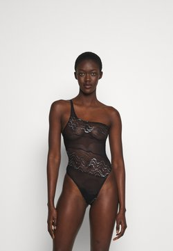 Coco de Mer - KATHARINE BODYSUIT - Body - black/silver-coloured