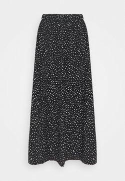 ONLY - ONLZILLE SKIRT  - Jupe longue - black/white