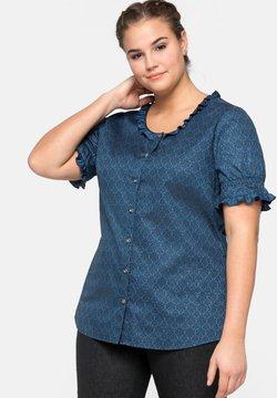 Sheego - Bluse - blau bedruckt