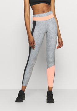 Nike Performance - ONE 7/8 - Tights - smoke grey/bright mango