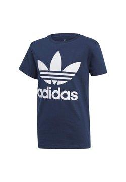 adidas Originals - TREFOIL - T-shirt z nadrukiem - conavy/white
