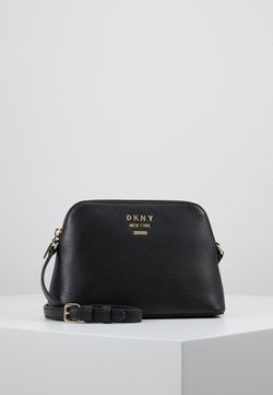 DKNY - WHITNEY DOME CROSSBODY - Umhängetasche - black/gold-coloured